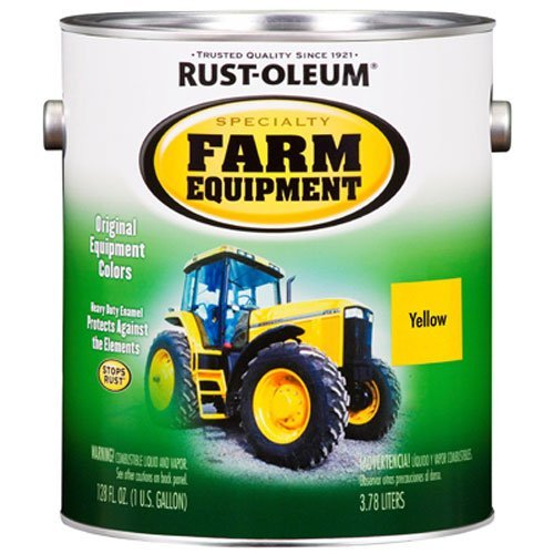 RUST-OLEUM 7443402 Gallon John Deere Yellow Bright Enamel Paint