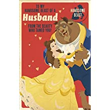 Husband - Disney Beauty & The Beast Handsome Beast Badge Valentine's Day Card