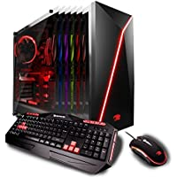 iBUYPOWER Gaming Elite Desktop PC AM8470i Intel i7-8700 3.20GHz, AMD Radeon RX 580 4GB, 16GB DDR4 RAM, 1TB 7200RPM HDD,  120GB SSD, Wifi, RGB, Win 10, VR Ready