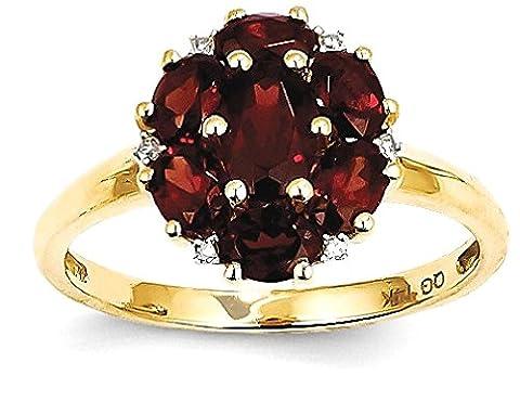 IceCarats 14k Yellow Gold Red Garnet Diamond Band Ring Size 7.00 Stone Gemstone (Garnet Rings Clearance)