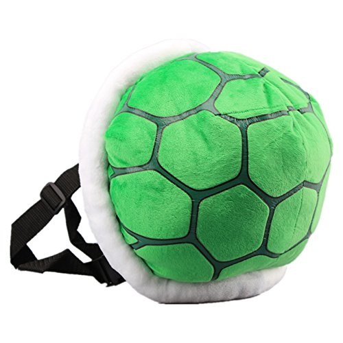 UiUoU Green Koopa Troopa Wind Plush Backpack Turtle Shell Bag Super Mario Bros Cosplay ()