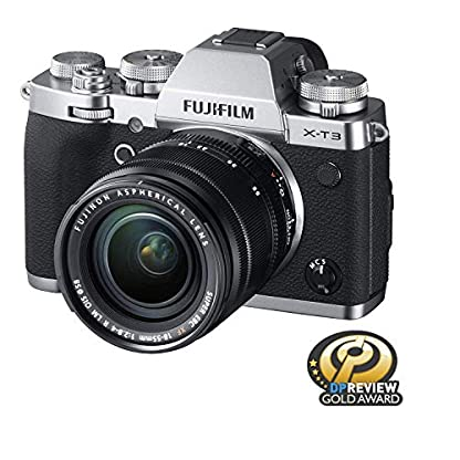 """Fujifilm X-T3 26.1 MP Mirrorless Camera with XF 18-55 mm Lens (APS-C X-Trans CMOS 4 Sensor, X-Processor 4, EVF, 3"""" Tilt Touchscreen, Fast & Accurate AF, Face/Eye AF, 4K/60P Video) - Silver 2"""