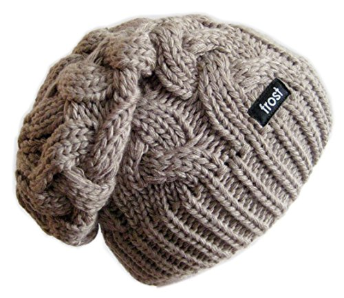 warm chunky soft slouchy beanie cable knit