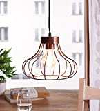 The Brighter Side Ibarra copper brown pendant light for home office industrial style