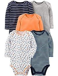 Baby Boys' 5-Pack Long-Sleeve Bodysuit