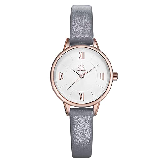 22d65a08bb1d SK SHENGKE - Reloj analógico de Cuarzo para Mujer  Amazon.es  Relojes