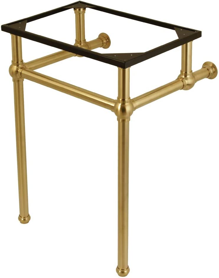 Fauceture Vbh282033sb Console Sink Holder With Brass Pedestal Brushed Brass Amazon Com