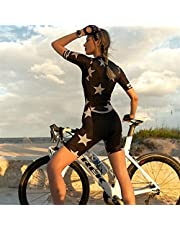 Dames Triathlon Leotard Professionele Korte Mouw Fietsen Racing Pak (Color : 1, Size : Medium)