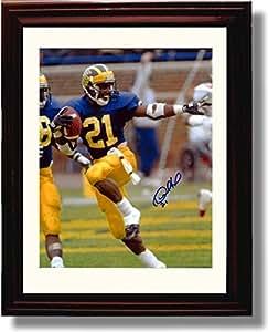 Amazon Com Framed Michigan Wolverines Desmond Howard