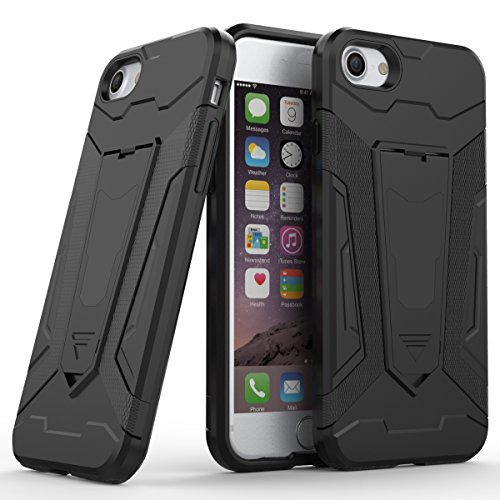 iPhone 7/iPhone 8 Fundas, TOTOOSE TPU+ PC Hybrid teléfono Caso Drop Resistente contra gota antideslizante protección para el iPhone 7/ iPhone 8-Gris negro