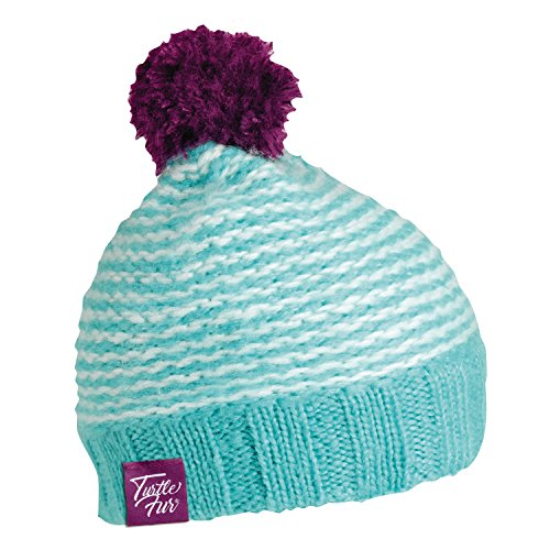 Heavyweight Knit Cap - Turtle Fur Shmee Poof Girl's Knit Pom Winter Hat Turquoise