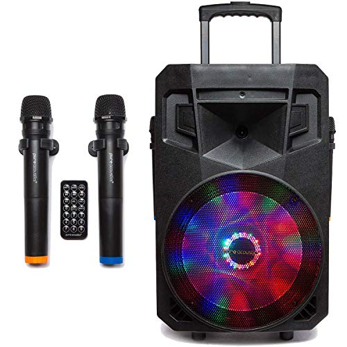 PA System with LED Party Lights, Wireless Portable Bluetooth 12