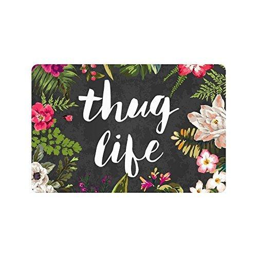 Thug Life Flowers Doormat 18 x 30-Inch