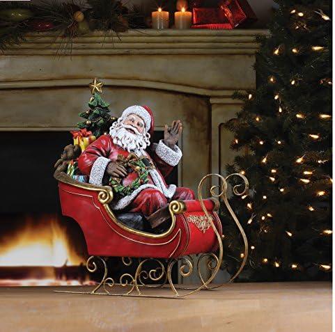 Napco Santa on Sleigh Decorative Item