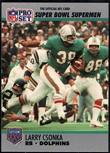 Football NFL 1990-91 Pro Set Super Bowl 160#40 Larry Csonka NM-MT+ ()