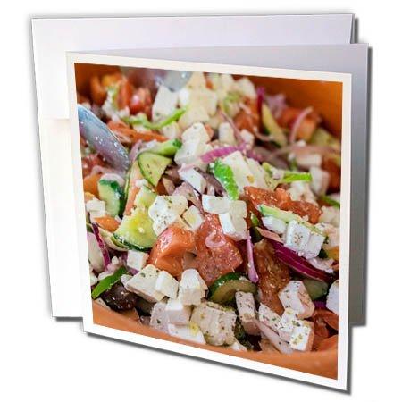 3dRose Danita Delimont - Food - Greek salad, Tourist Club, Olympia, Greece, Europe - 6 Greeting Cards with envelopes (gc_277445_1)