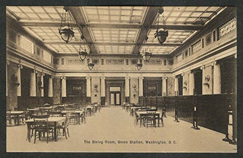 The Dining Room Union Station Washington DC postcard 1910s (Dc Station Unions Washington)