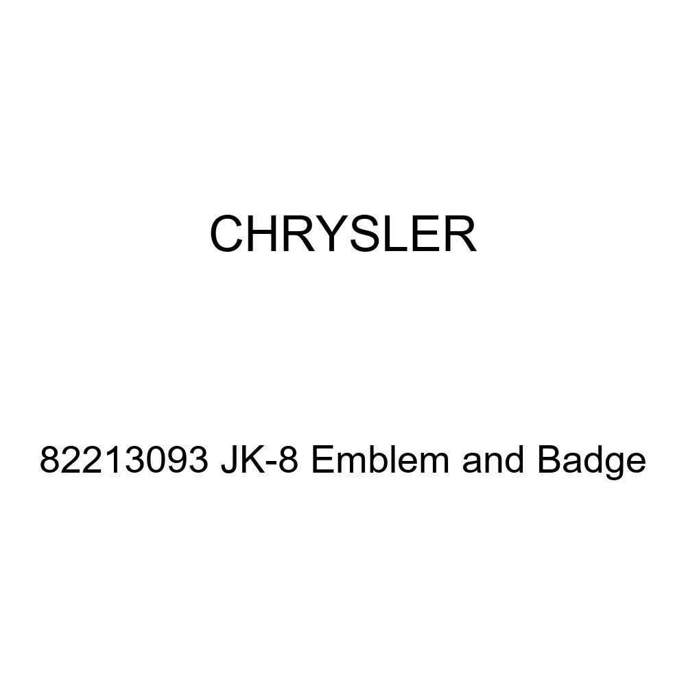 Genuine Chrysler 82213093 JK-8 Emblem and Badge