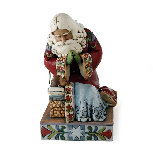 Enesco Jim Shore Heartwood Creek from Santa with Baby Jesus Figurine 7.5 in