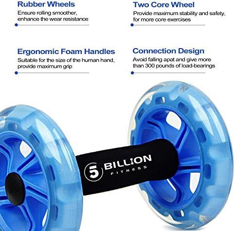 5BILLION Ab wheel Roller & Rueda Abdominal - Double Ab wheel ...