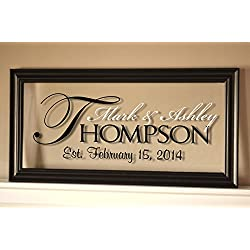 MRC Wood Products Personalized Family Name Sign Picture Frame 11x21 The Regal