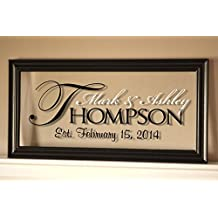 "Personalized Family Name Sign Picture Frame 11x21 ""The Regal"""