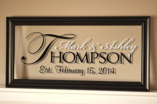 personalized family name sign picture frame 11x21 the regal - Personalized Wall Decor