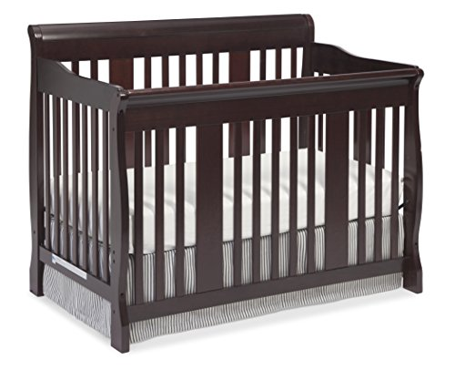 Stork Craft Tuscany 4-in-1 Convertible Crib, Cherry by Stork Craft