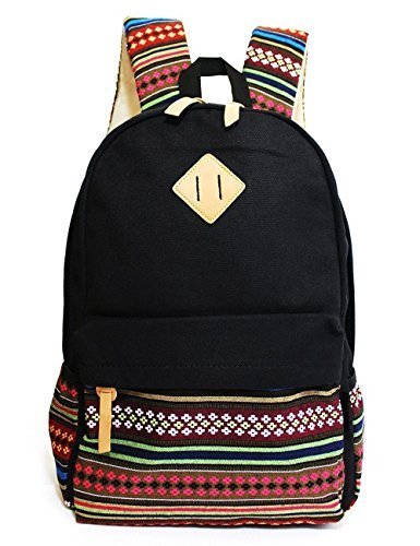 Winkine Casual Style Lightweight Canvas Laptop Backpack - Fashion Cute Travel School College Shoulder Bag / Bookbags / Daypack