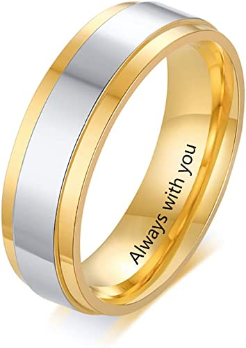 Amazon Com Molywoo Personalized Mens And Womens Couple Rings Set