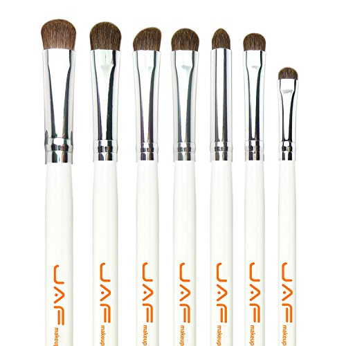 Shader Hair Brush (JAF 7-Piece Natural Hair Eye Makeup Brush Set, White)