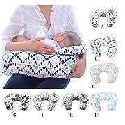 Multi Function Nursing Pillow Maternity Pillow U-Shaped Breastfeeding Pillow Cotton Feeding Waist Support Cushion(Green Tree)
