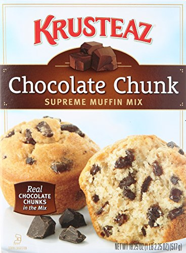 Krusteaz Chocolate Chunk Supreme Muffin Mix, 18.25-Ounce Boxes (Pack of 12)