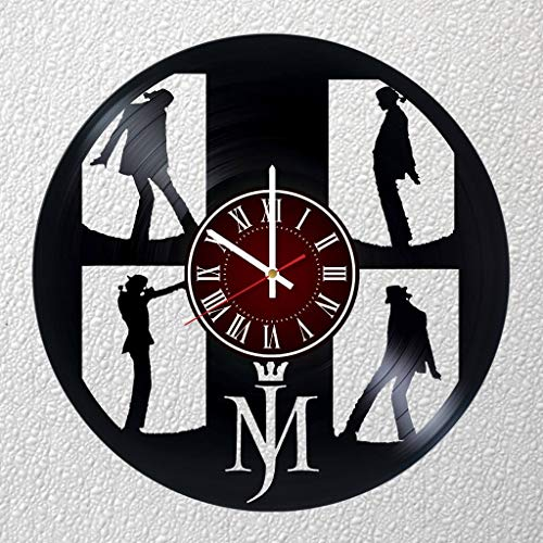 Michael Jackson Band 12 inches / 30 cm Vinyl Record Wall Clock | King Pop | MJ Fan Gift | Music Clock | Children's Room Decor Idea Home Art Party | Michael Jackson