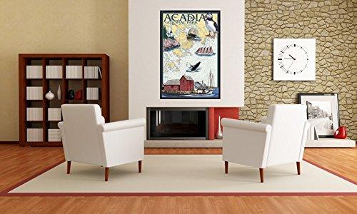 Acadia National Park, Maine - Nautical Chart (24x36 Giclee Print Wall Decor Poster)