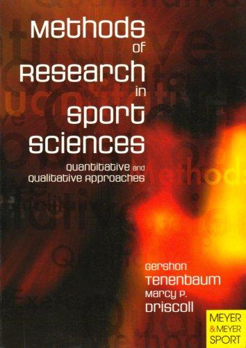 Methods Of Research In Sport Sciences: Quantitative & Qualitative Approaches
