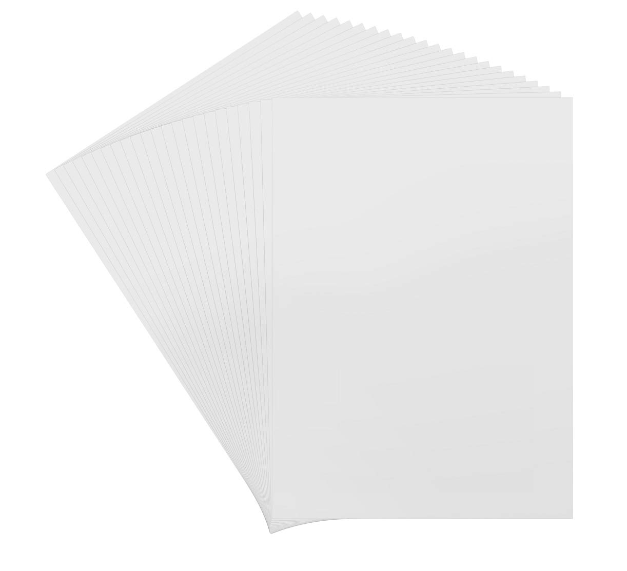 Golden State Art Backing Acid Free Bags Pack of 50 5x7 White Picture Mats Mattes with White Core Bevel Cut for 4x6 Photo