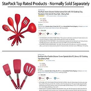 StarPack Value Bundle - Premium 5-Pc Silicone Kitchen Utensils and 3-Pc Flexible Turner Set