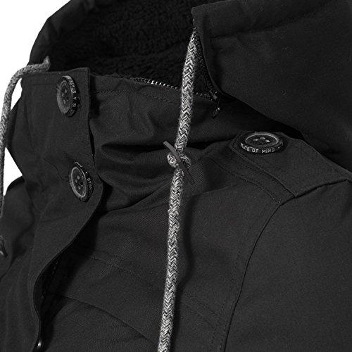 Colori Da Giacca Ewok Black xl Donna Ragwear Xs Con Invernale Cappuccio 7 w81qntFx7