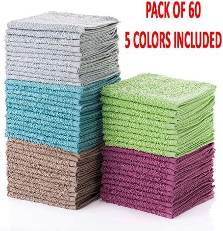 Simpli Magic 79148 Washcloths Turquoise Raspberry product image