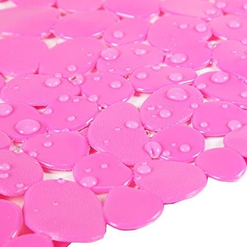ilovebaby Sandy Stone Baby Kids Safety Non Slip Tub Shower Bath Mat, Mildew Mold Resistant Bathmat (Rose Red) by ilovebaby (Image #2)