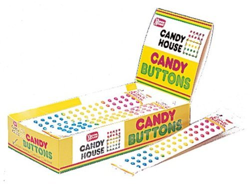 Necco CANDY BUTTONS by Necco twenty four 2-strip packs (48 strips)
