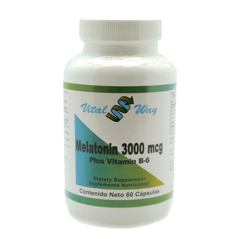 Amazon.com: Vital Way Melatonin 3000 MCG (3 MG), Natural Supplement ...