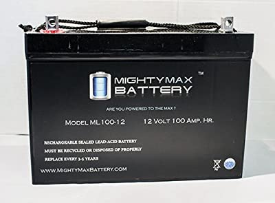 12V 100AH BATTERY FOR SOLAR WIND DEEP CYCLE VRLA 12V 24V 48V - Mighty Max Battery brand product