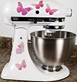 Pretty Pink Butterflies Kitchen Mixer Mixing Machine Decal Art Wrap For Sale