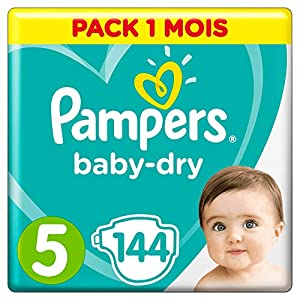 Couches Pampers Taille 5 (11-16 kg) - Baby Dry couches, 144 couches, Pack 1 Mois /NEW 10