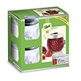 Ball 60000 Half Pint (8 oz.) Regular Mouth Mason Jars w/ Cap - Set of 12 AEP