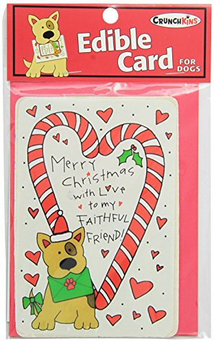 Crunchkins Crunch Edible Card, Merry Christmas, Faithful Friend