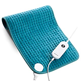 "Homech Electric Heating Pads for Back Pain and Cramps Relief - Large [12""x24""] - Ultra-Soft Heat Pad with Moist & Dry Heat Therapy Options - Auto Shut Off - 6 Temperature-Hot Heated Pad"