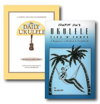 Jumpin' Jim's Ukulele Daily Song Pack - Two Book Pack- Includes Jumpin' Jim's Ukulele Tips 'N' Tunes and The Daily Ukulele Jumpin' Jim's Ukulele Songbook, 365 Great Songs for Better (Jumpin Jims Ukulele Tips)